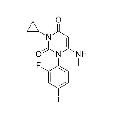 3-cyclopropyl-1-(2-fluoro-4-iodophenyl)-6-(methylamino)pyrimidine-2,4(1H,3H)-dione (CAS NO.:871700-2
