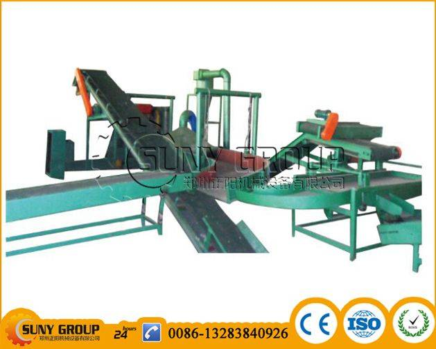 Strong shaker for waste tyre recycling machine