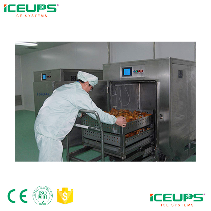 Vacuum pre-cooling machine for cooked food