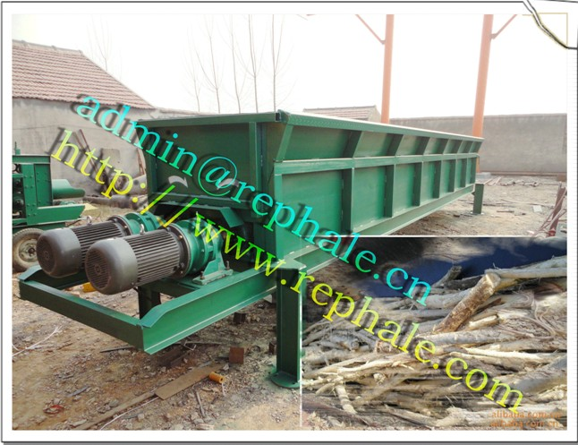 double rollers log debarking machine