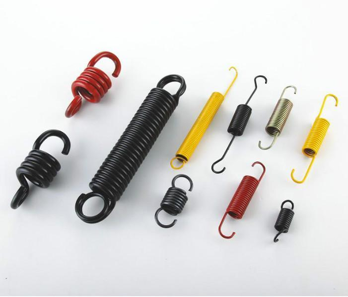 custom carbon steel extension spring with hooks
