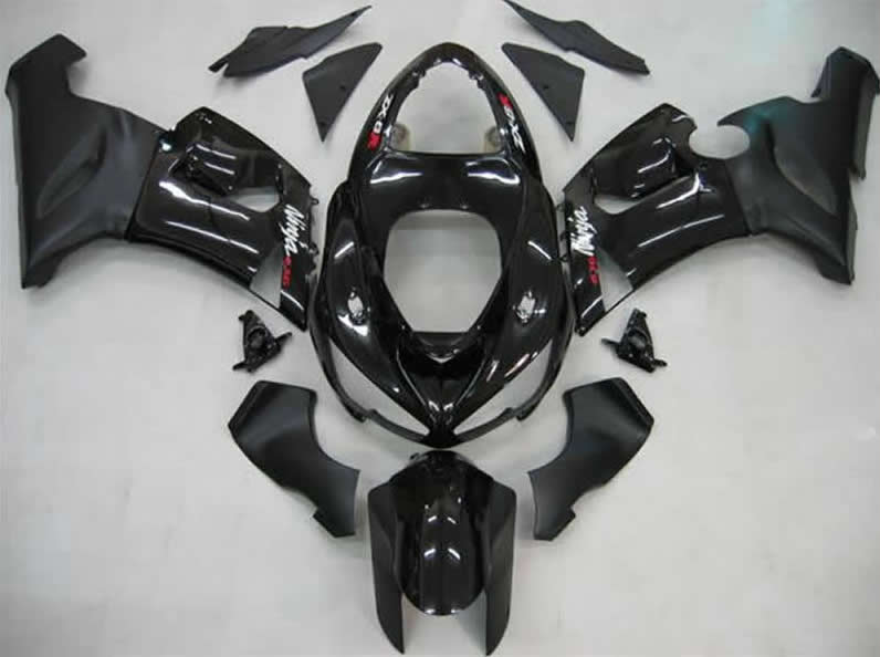 ninja zx-6r 2005 to 2006 abs replacement body work Full Black aftermarket fairing kits