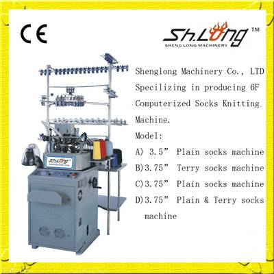 Shenglong automatic computerized socks knitting machines(144N terry)
