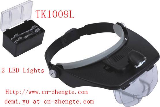 Hands Free Head Headband Illuminated Magnifier
