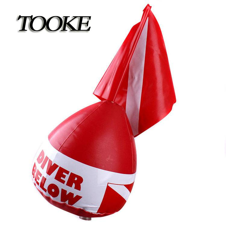 TOOKE PVC Surface Marker Inflatable Dive Flag Buoy Sign Signal Float Scuba Dive Diving Snorkeling