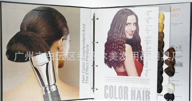 Superior quality hair color chart,hair dye chart swatch book