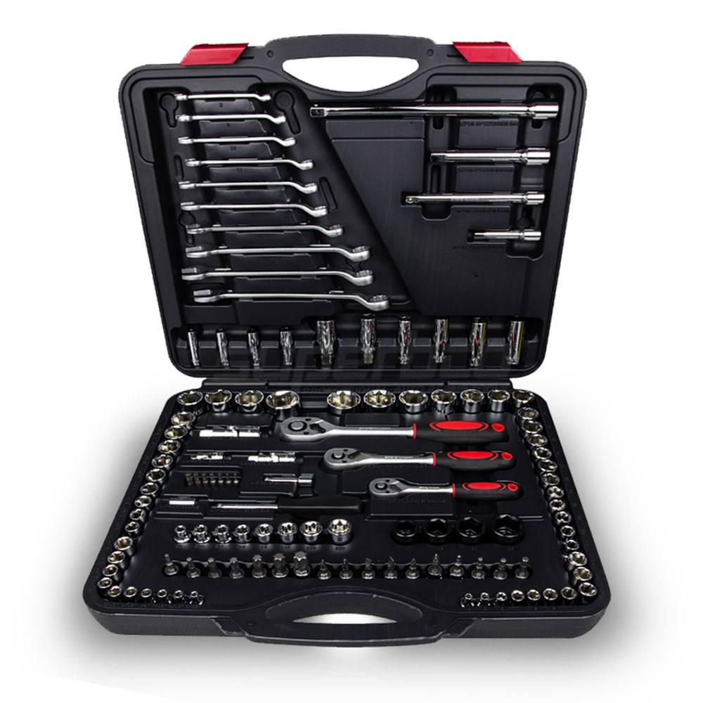 """120PCS Socket Set Cr-V 1/4"""" & 3/8"""" & 1/2"""" Dr. Made in Taiwan"""