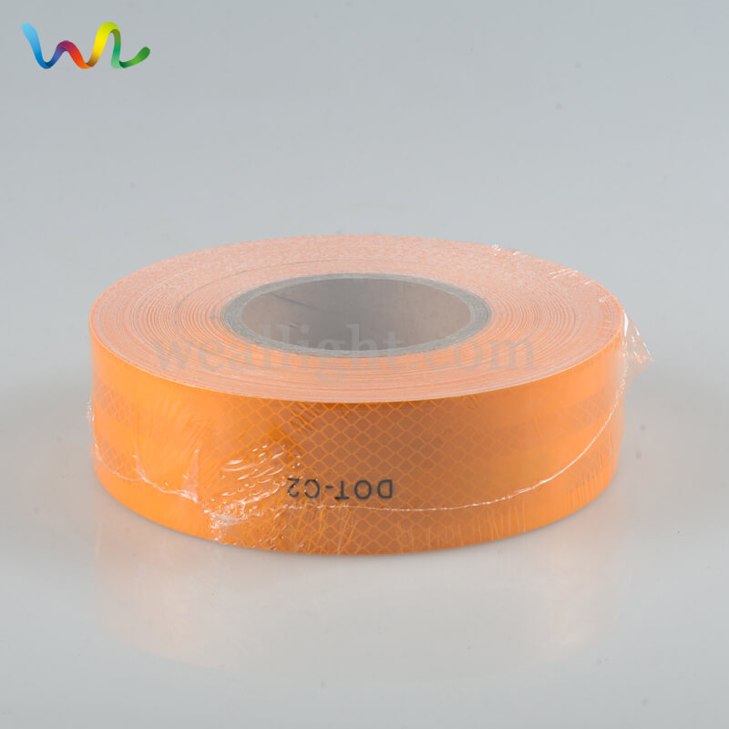 Orange Reflective Tape, Reflective Tape, DOT C2 Reflective Tape