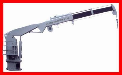 Electro-hydraulic telescopic knuckle folding boom crane