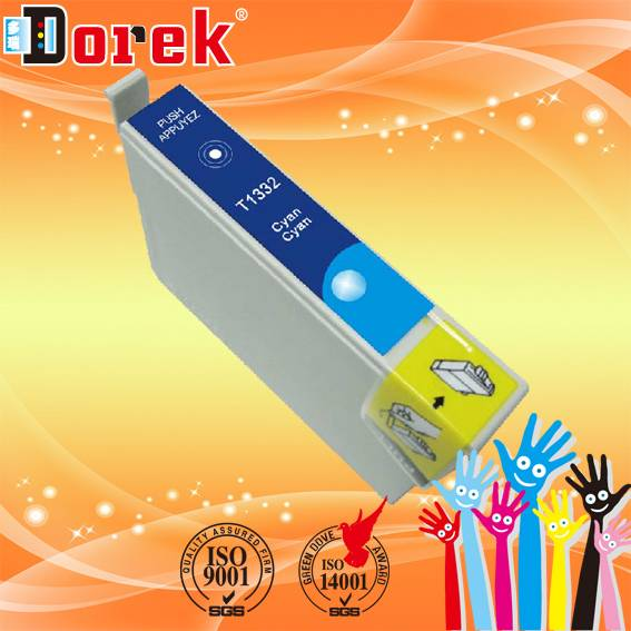 Free Shipping(20 pieces Cyan/Lot),For Epson Stylus CX7300 Printer,Compatible ink cartridge T0732
