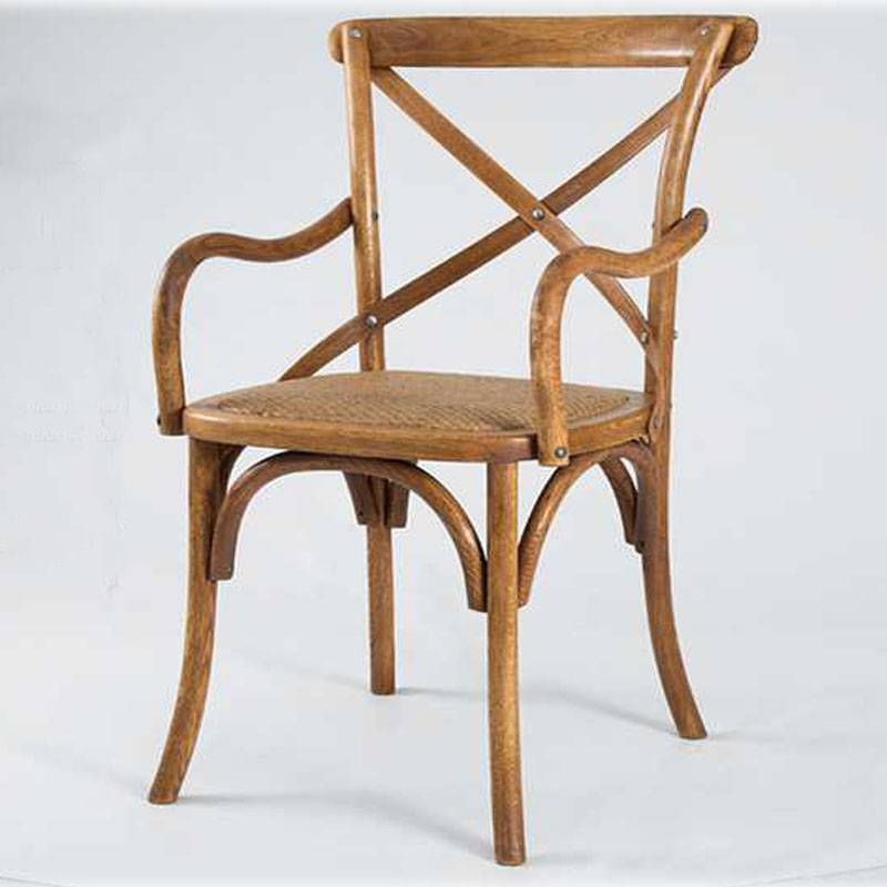 Antique Wooden Chair with Arm, Arm X Back Wooden Chair