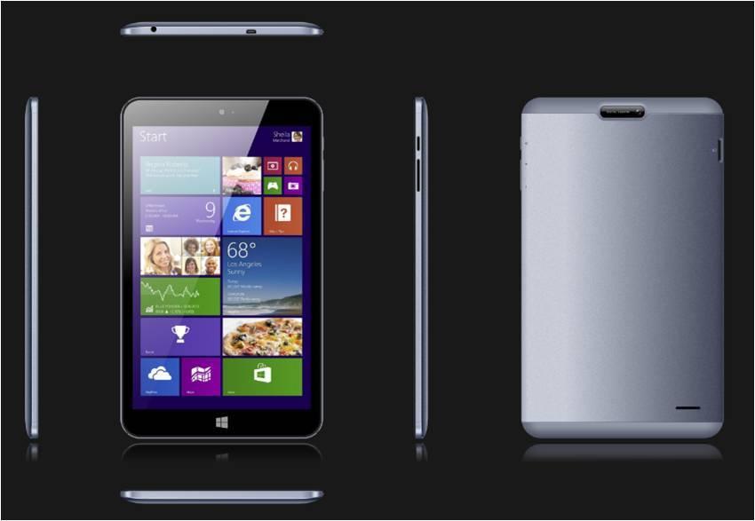 8inch Intel tablet pc IPS screen / metal case