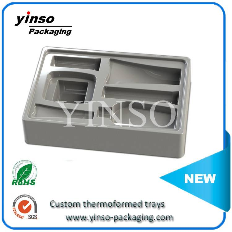 A wide variety of PP/PS/PVC/PET flock blister, Flock blister tray for cosmetics