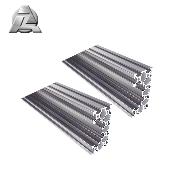 silver anodized aluminum extrusion c beam 4080 profile