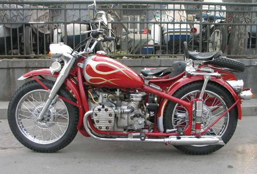 CJ750CC Motorcycle with sidecar