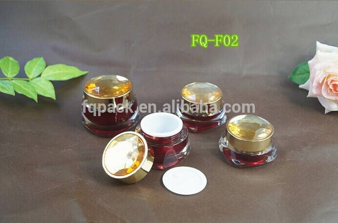 Luxury diamond cap cosmetic packaging container