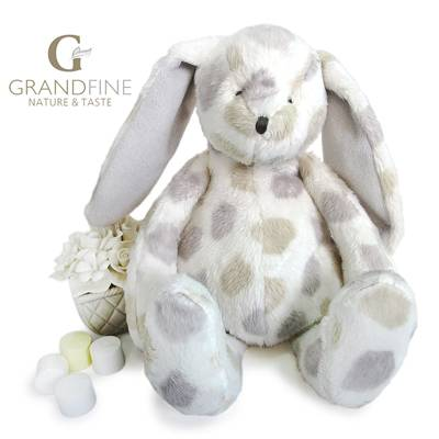 warm baby doll soft dot plush rabbit stuffing kids toy decoration toys pass EN71 test report and CE