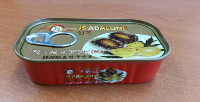 Canned abalone,in sauece, rectangle can