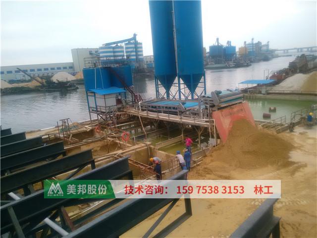 sludge dewatering machine for dewatering washing sand slurry