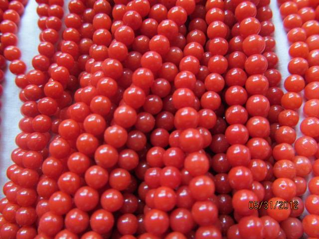 Genuine  Coral Beads, AAAAA Grade, Round