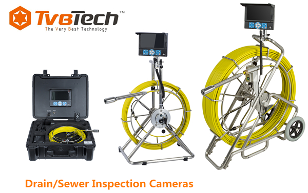 TVBTECH 20-120m Sewer Drain Inspection Camera for Underground Pipeline Inspection