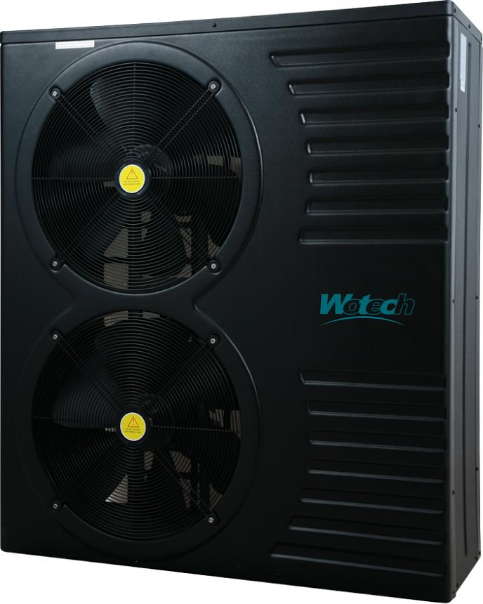 12kw DC inverter swimming pool heat pump for -15'c COP 5.8