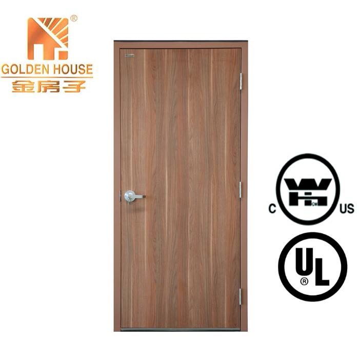 WH UL 20-90mins solid wood fire door laminate melamine veneer HPL