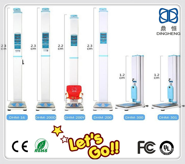 Coin-operated height and weight measuring instrument scale balance with CE and RoHS height measuring