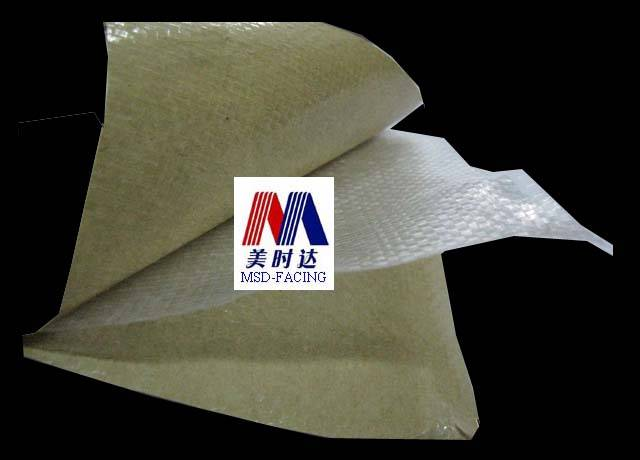 Kraft Paper/PP Woven Cloth Kraft Facing. High Strength Packing Paper (MSD-KW8080S AND KW8080)