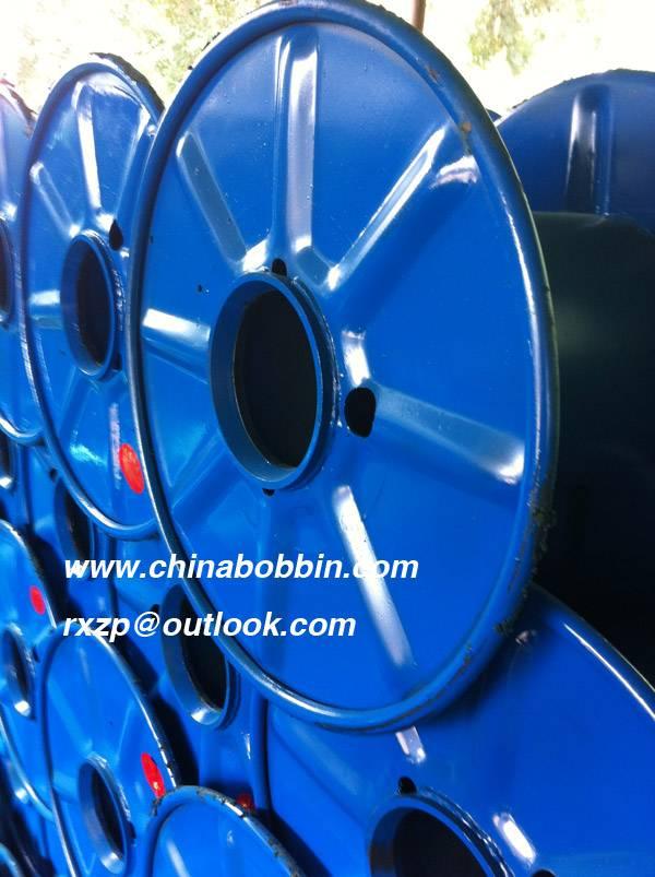 Pressed steel bobbin cable spool for steel wire cable copper PND 800 cable steel bobbin