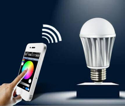 Energy saving Smartphone control multicolor bluetooth LED light bulb