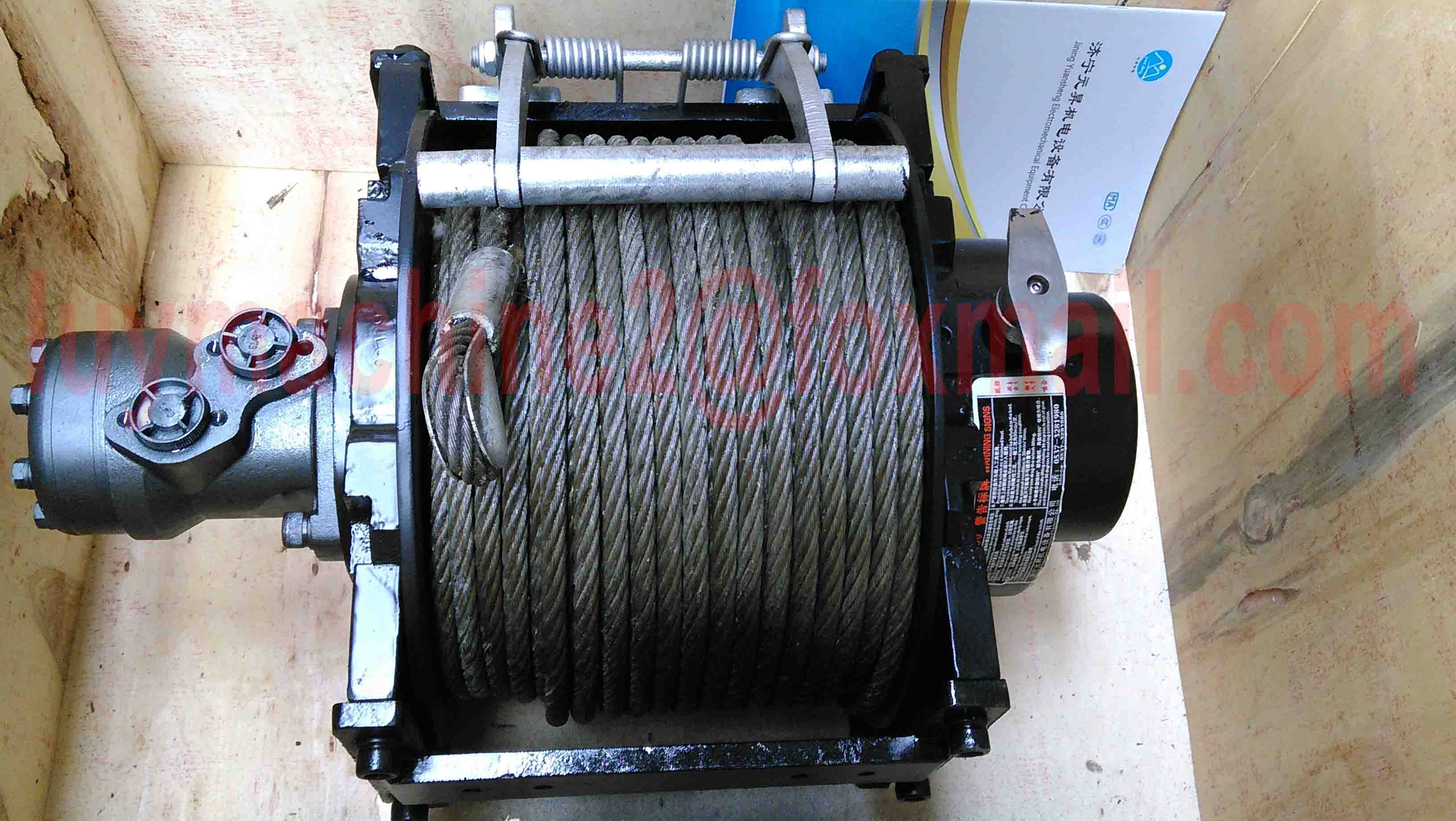 5 ton horizontal pull hydraulic winch with 60m wire rope and hook