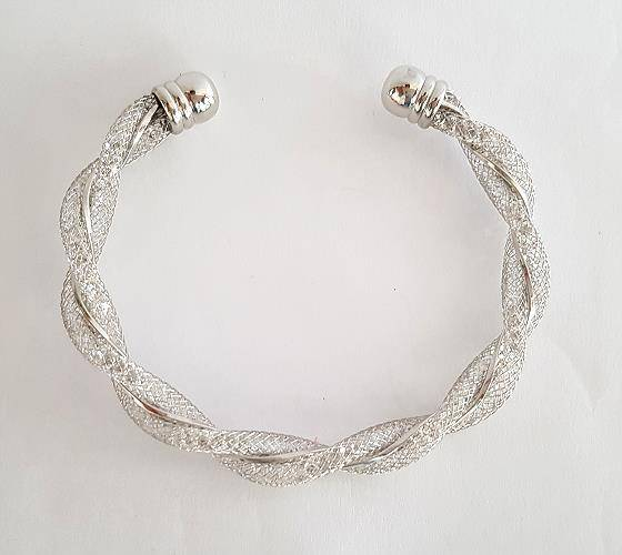 Trendy Classic silver plating bangle-Silver