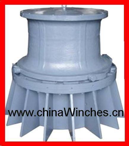 Vertical electric or hydraulic marine anchor windlass capstan