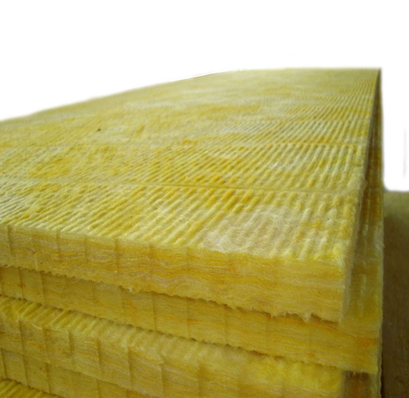 low thermal conductivity glass wool board sound absorbing glass wool plate