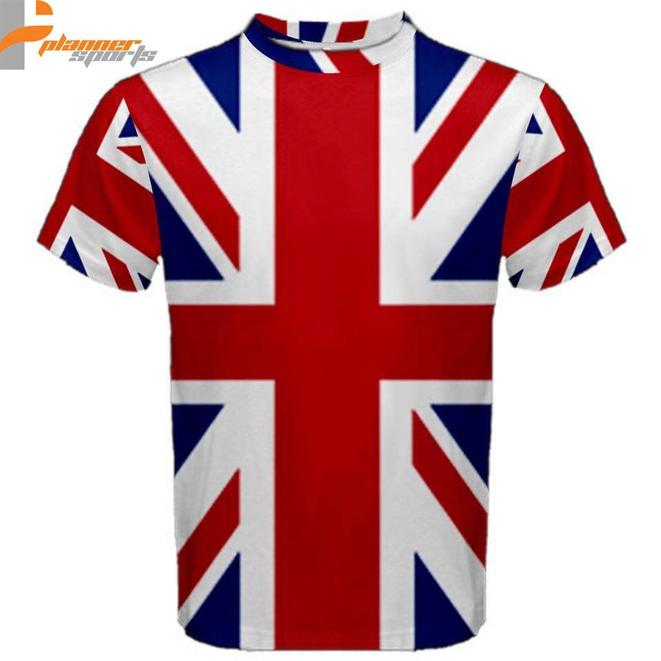 United Kingdom British Flag Sublimated Sublimation T-Shirt S,M,L,XL,2XL,3XL