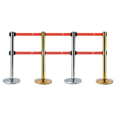 Double Head Retractable Belt Crowd Control Barrier with Cement Base
