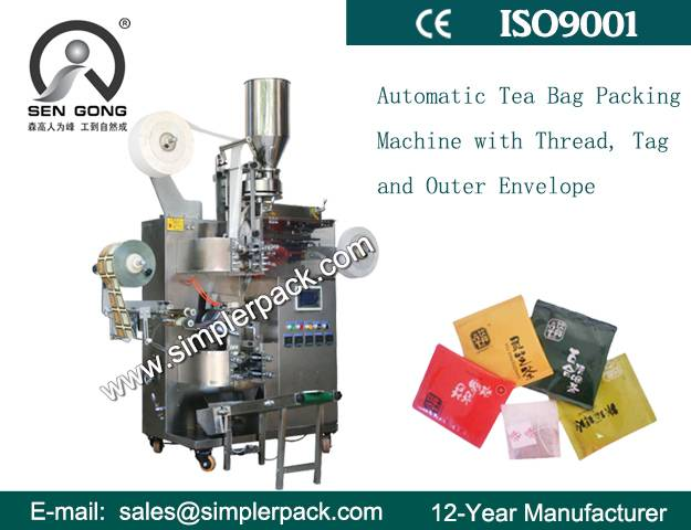 Multi-function Fernel Tea Bag Packing Machine with Outer Envelope