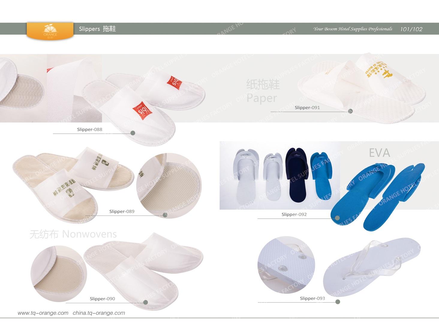 Hotel Nonwovens slippers, paper slippers, EVA slippers