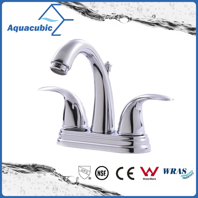 Luxury bathroom upc double handle brass basin faucet (AF0301-6)