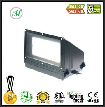 dlc led wall pack 40w square shape outdoor modern wall lamp
