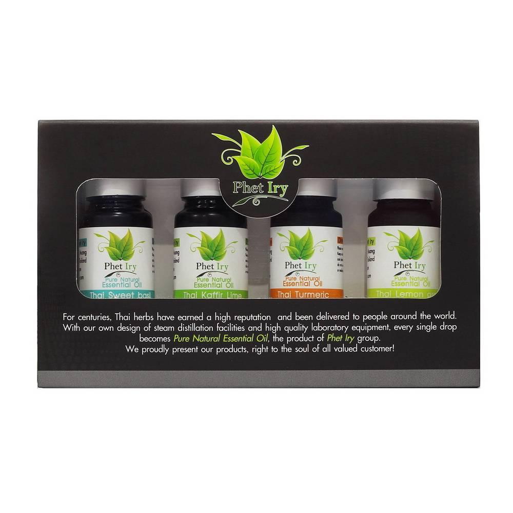 Phet Iry Aroma set (Pure essential oil 4 types of aroma)