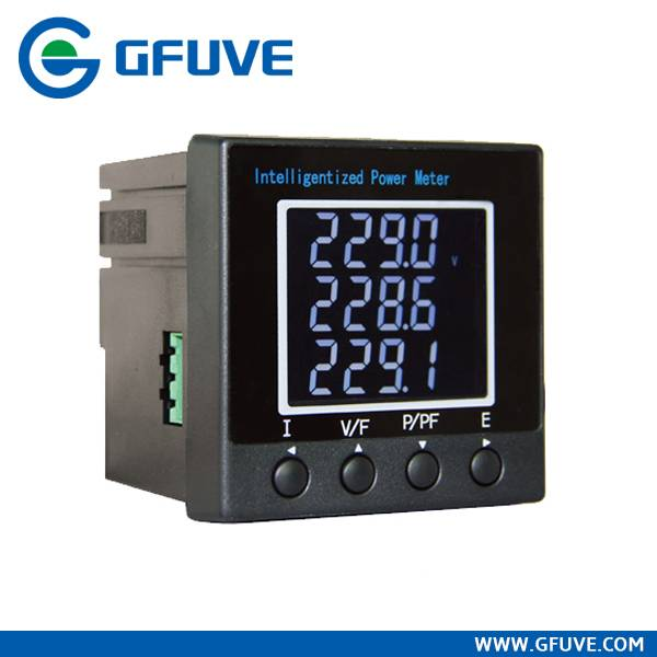 Solar digital power panel meter
