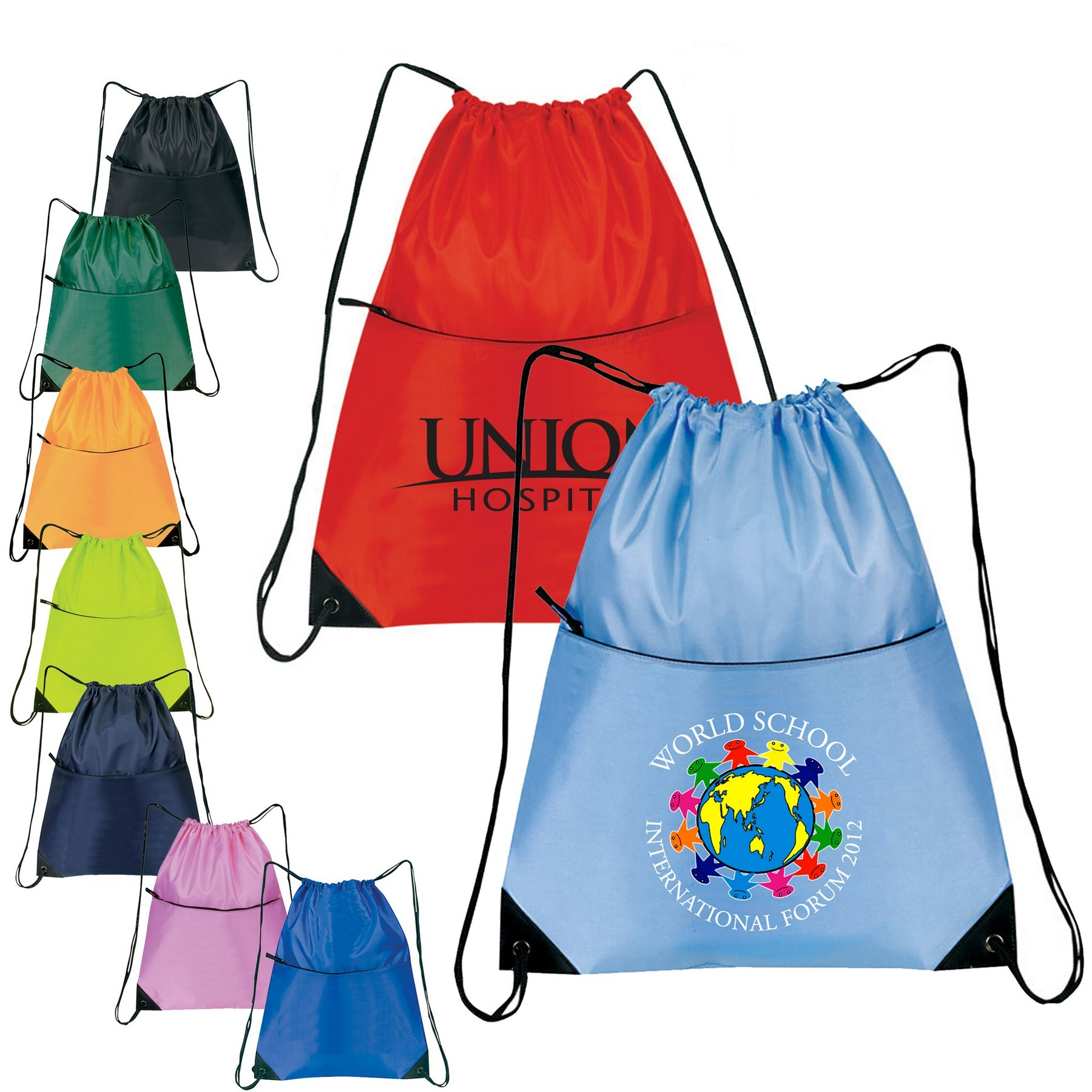 Cheap Nylon Zippered Drawstring Backpack,Cheap Nylon Zippered Drawstring Backpack Wholesaler