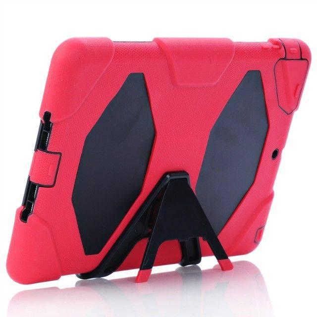 Anti Shock Hybrid Slim Armor Stand Cover Case for iPad Air 2 3 4 Mini for Galaxy Tab 3 4 S IPAD5C22