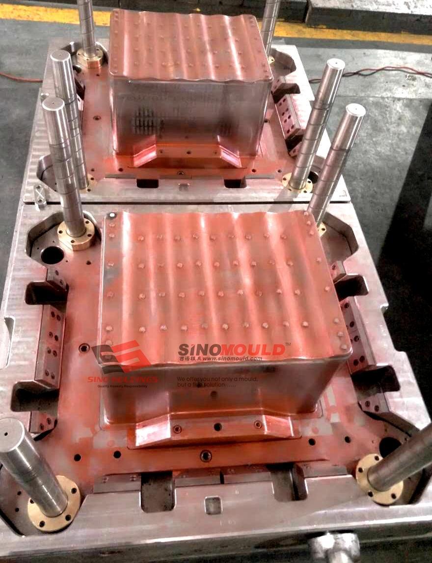 2 cavity crate mold