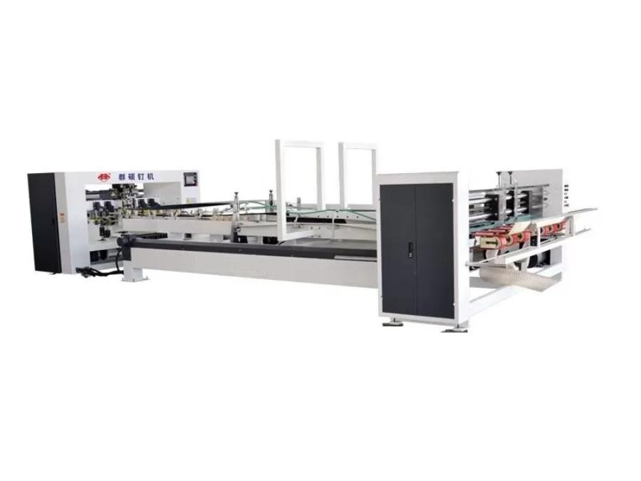 New type full automatic carton stitcher box machine