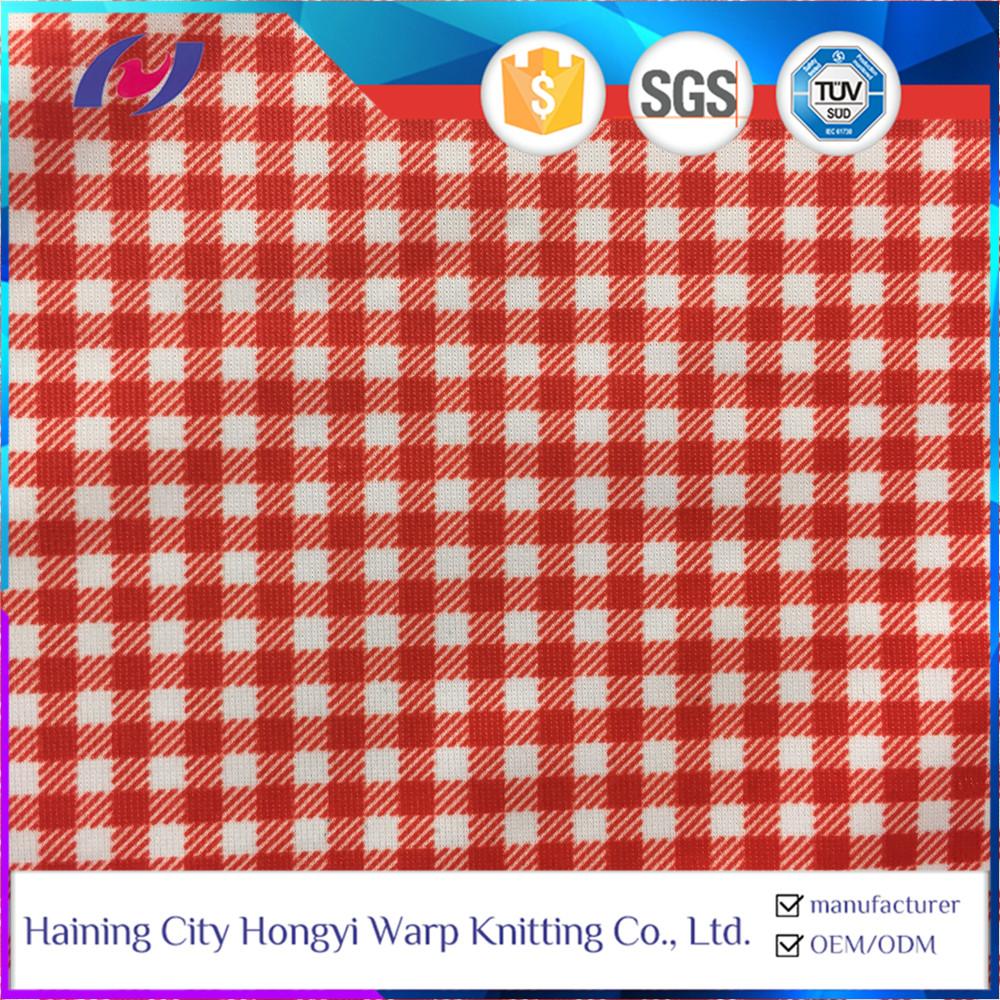 Stretchy Waterproof Nylon Spandex Plaid Fabric Home Fabric Textile