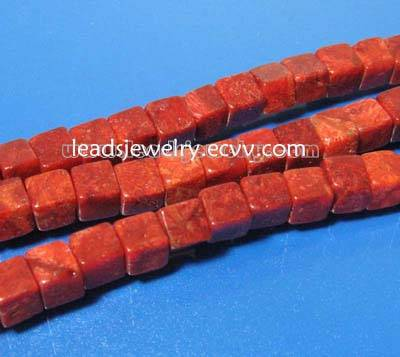 Sponge Coral Beads,8x8mm Cube