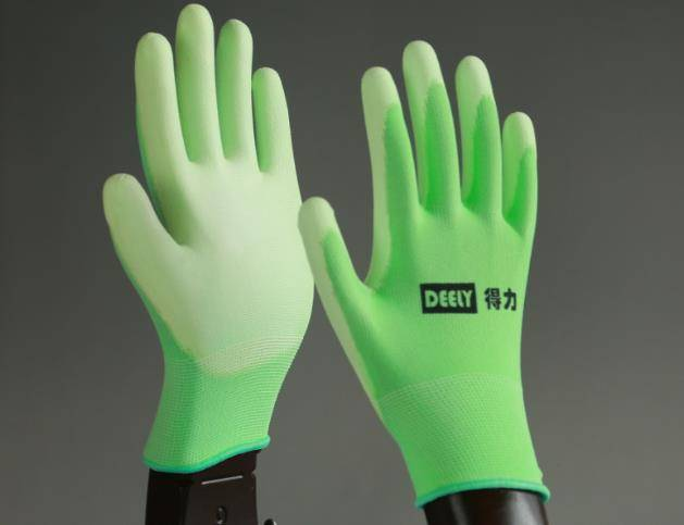 13G Knitted Cut Resistant Glove With PU Palm Coating/ Cut Resistant safety gloves/PU Coated HHPE Cut